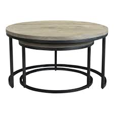 drey round nesting coffee tables set of 2 coffee tables moe s whole