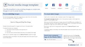 Facebook Outline Template Social Media Image Template
