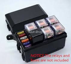 car auto fuse box 6 relay relay holder 5road the nacelle insurance fuse box car charger image is loading car auto fuse box 6 relay relay holder