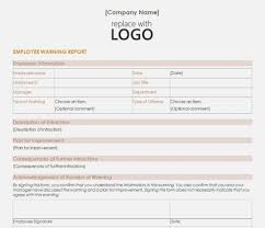 Employee Warning Form Free 14 Ways Employee Written Invoice And Resume Template Ideas