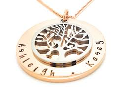 tree of life personalised jewellery rose gold and silver gallery photo