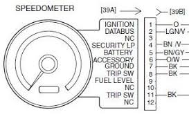 07 speedo but i need the diagram of what goes were in the 12 pins