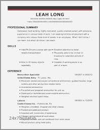 Transportation Resume Examples Transportation Resume Awesome 63 Inspirational Transportation Resume