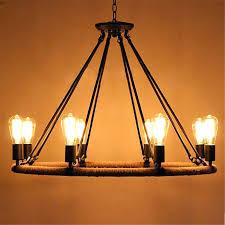 round edison bulb chandelier enchanting black metal chandeliers