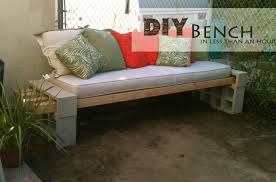 Cinder Block Furniture Backyard Diy Cinder Block Outdoor Bench