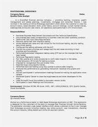 Sample Cover Letter For Qa Analyst Fresh â¾ 49 Qa Tester Resume No