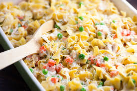Add cooked egg noodles to baking dish; Chicken And Noodle Casserole Page 1 Line 17qq Com