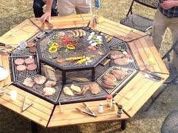 patio ideas with fire pit. Patio Ideas Outdoor Dining Table Fire Pit With Furniture Latest And Rectangular Shape Ocagon R