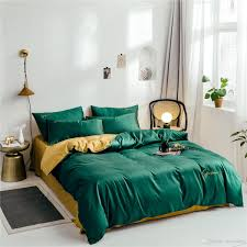 Luxury Designer Bedding Sets Designer Bedding Sets Cotton Solid Color Embroidery Bed Sheet Quilt Cover Duvet Cover Pillowcase Soft Home Luxury Bedding Gray Twin Comforter Duvet