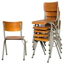 school chairs stacked. Perfect Chairs Tubax Birch Stacking School Chairs With Side Hooks For Sale To Stacked 1stDibs