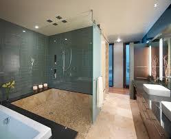 bathroom sinks denver. Denver Blue Glass Tile Shower Bathroom Contemporary With Open Chrome Shelves Sinks N