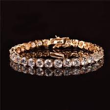 3mm 4mm mens aaa cubic zirconia tennis bracelet chain hip hop jewelry iced finish 1 row gold cz bracelet link birthday gift jewelry market