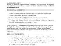 Career Change Objective Resume Good Summary In Resume