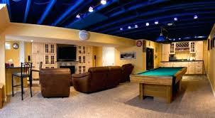 best basement lighting. Captivating Best Lighting For Basement Bar Finished Layout .
