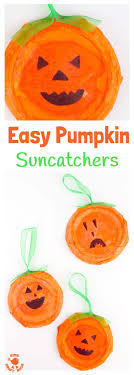 easy pumpkin suncatchers this pumpkin craft is perfect for toddlers and preers kids will