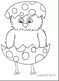 Easter Chick Coloring Pages Printable Two Chickens In The Egg Page