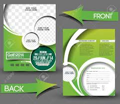 marketing brochure templates set 1 28394328 golf tour nt front back flyer template stock