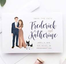 Wedding Save The Date With Couple Portrait The Penny