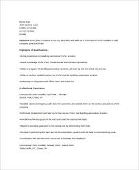 Free 6 Hvac Resume Templates In Word Pdf
