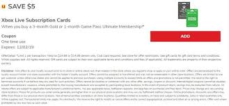 month xbox game p gift card