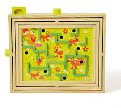 Wooden Maze Games Labyrinth Game Wooden Maze Game With Two Steel MarblesPuzzle Game 98