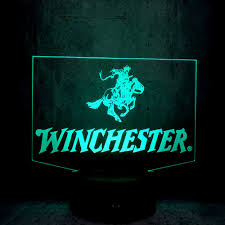 The Lighting Guy Winchester Led Lamp 3d Night Light Cool Guy Exhibition Man Gifts Friends Gift Bedroom Desk Decor Lighting Club Display Lava