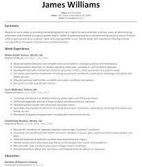 Registered Nurse Resume Sample Resumelift Com