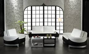 White Living Room Set For White And Black Leather 3 Piece Modern Living Room Set 0893