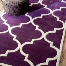 safa luna morrocan trellis plum rug is a handmade rugs that is made from wool blend mainly use for indoor the rugs is rectangle in shape with attractive
