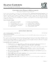 Construction Project Manager Resume Template Amazing Resume For Construction Project Manager Construction Manager Resume