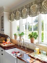 kitchen window treatments.  Kitchen In A Kitchen With Simple Style And Mostly White Color Palette Splash  Of Pattern Can Add Personality  To Kitchen Window Treatments