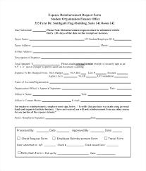 employee expense reimbursement form expense reimbursement form employee template free approval request 9