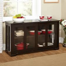 buffet with glass doors. Kitchen Buffet Glass Doors Inspirational Espresso Sideboard Dining Cabinet With 2 T