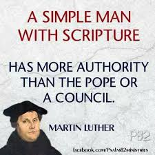 Image result for luther mocking pope