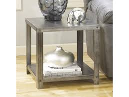 ashley signature design hattney square industrial metal end table