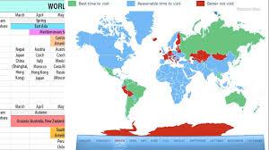 Travel Calendar World Travel Calendar Map Best Time To Travel Global Tourist