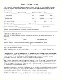 Samples Of Incident Report And Daycare Contract Family Daycare