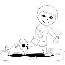 Disegno Di Giocare Con Gli Animali Da Colorare Per Bambini