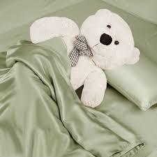 sage green silk toddler bedding set