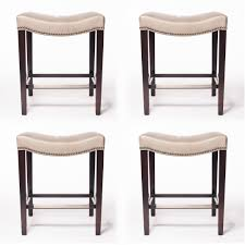 Hickory Chair Hickory Chair Leather Stools Madigan Backless Counter