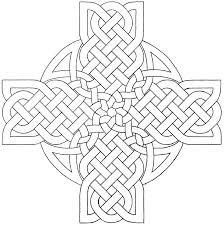 Irish Celtic Designs Coloring Pages Printable Symbols Pics Of Cross
