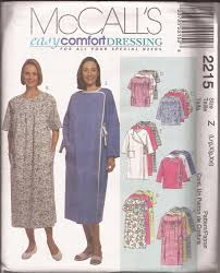 Hospital Gown Pattern Classy McCalls 48 48 Hospital Special Needs Dress Top Wrap Gown