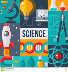 Science Poster Background Science Laboratory Research Creative Poster Stock Vector
