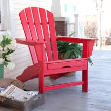 POLYWOOD Recycled Plastic Big Daddy Adirondack Chair with Pull-out Ottoman  | Hayneedle