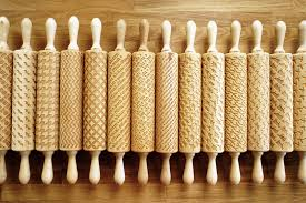 Patterned Rolling Pin New Custom Engraved Rolling Pins Imprint Patterns Into Cookie Dough
