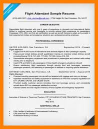 Sample Resume For Flight Attendant 9 10 Flight Attendant Resume Example Archiefsuriname Com