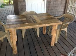 Tables Made From Wood Pallets Diy Table From Wood Pallet 24365 Litro