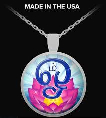 unique tamil om symbol necklace om is