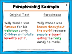 Summarizing and paraphrasing helps the writer