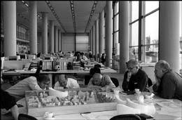 Norman foster office Studio Dennis Stock 1997 London The Partners In Sir Norman Fosters Office Archdaily Magnum Photos